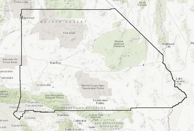 san bernardino county map