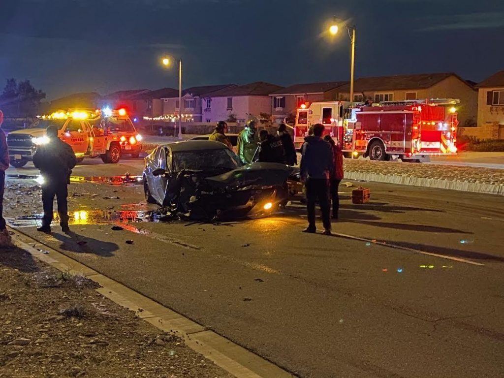 Person is injured in traffic collision in Fontana on March 25