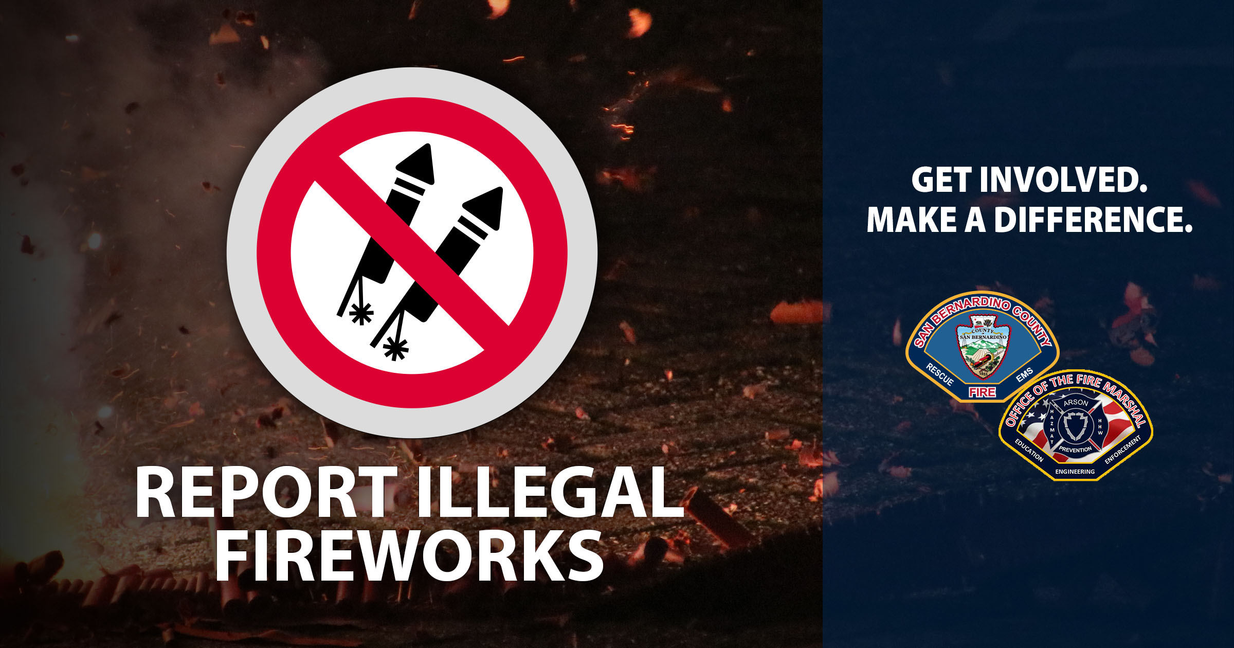 County to Issue Contact-Free Citations for Illegal Fireworks