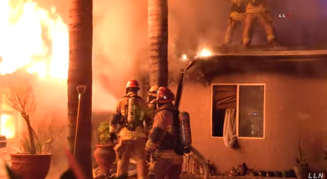 Homeowner Fights Fire Until Firefighters Arrive