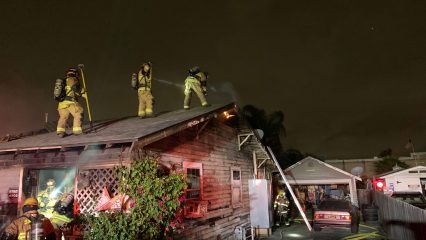 Upland Crews Battle Early Residential Fire