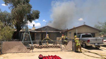 Twentynine Palms Home Damaged by Fire