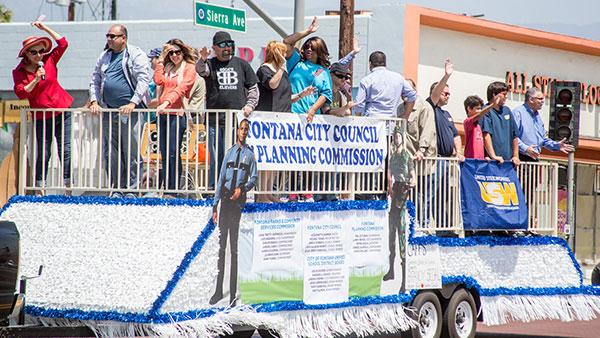 fontana city council parade float