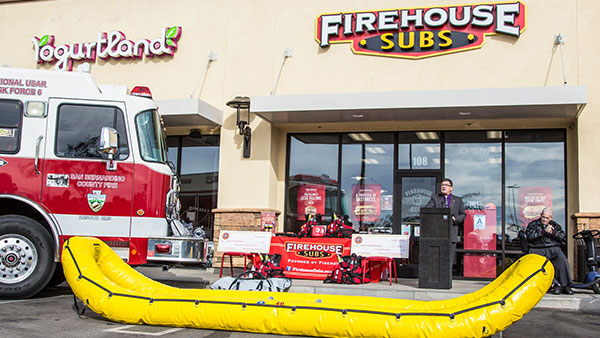 fire department event at firehouse subs