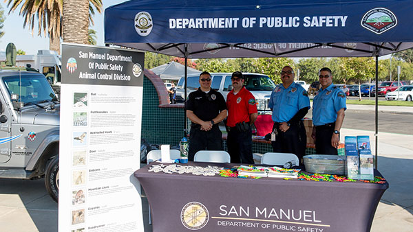 department of public safety booth san manuel event