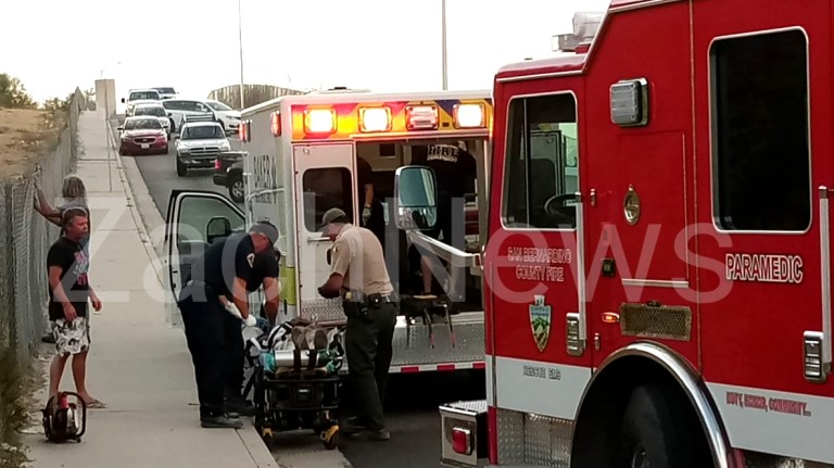 Downtown Needles, CA: Unresponsive man found laying along a hillside off West Broadway just west of L Street.