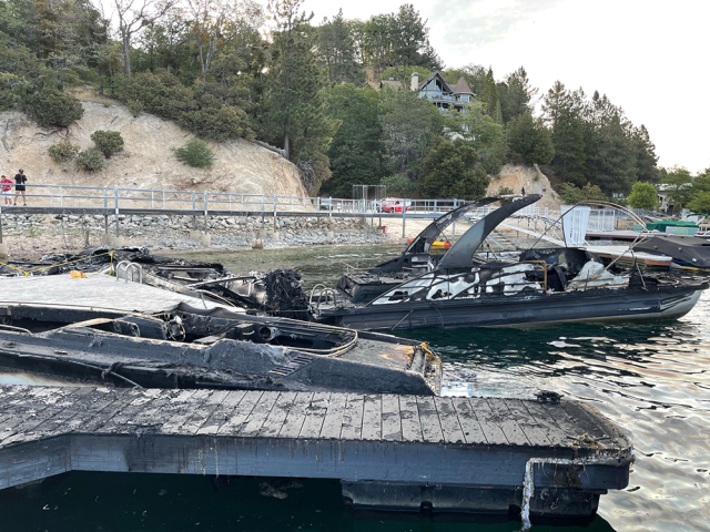 Fire That Caused $2 Million In Damage to Lake Arrowhead Boats, Docks Deemed Suspicious