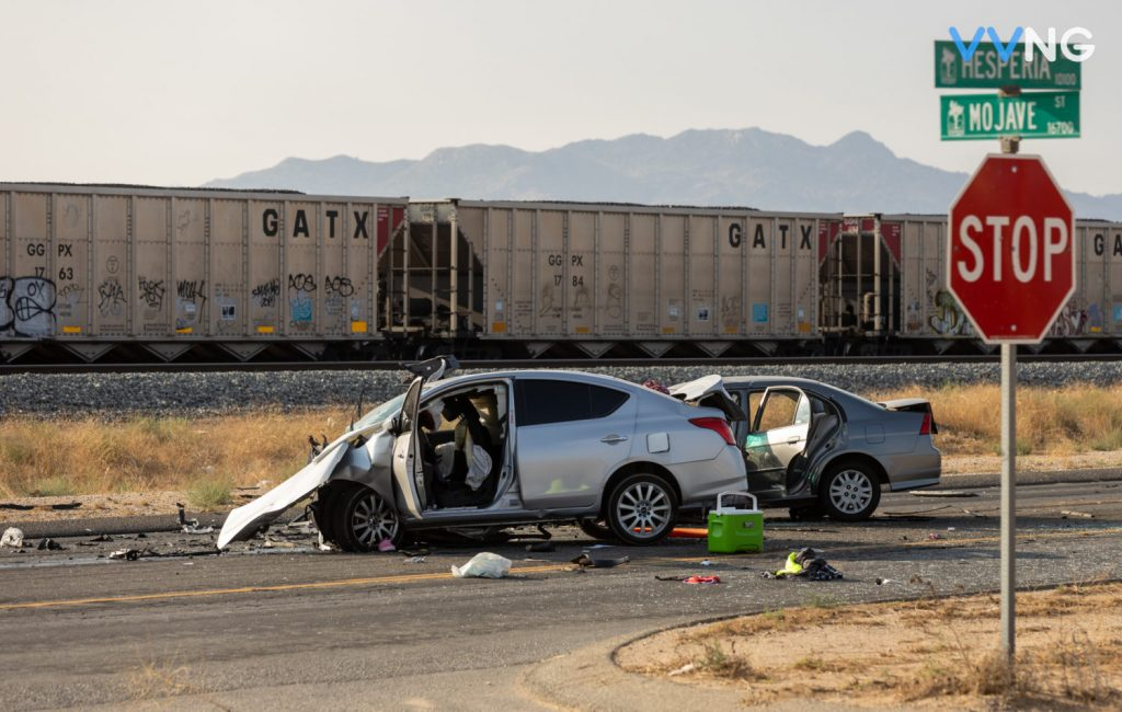  1 killed, 3 airlifted in head-on crash on Hesperia Road