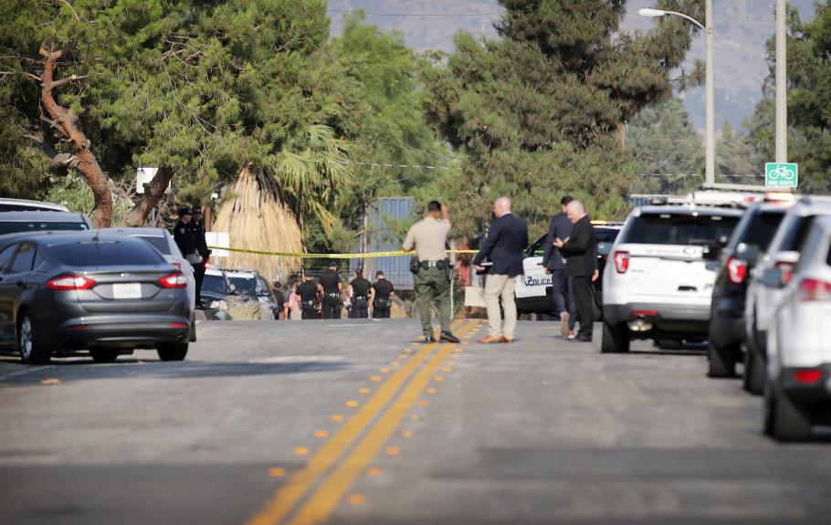Sheriff's deputy injured when gunfire rings out during traffic stop in San Bernardino