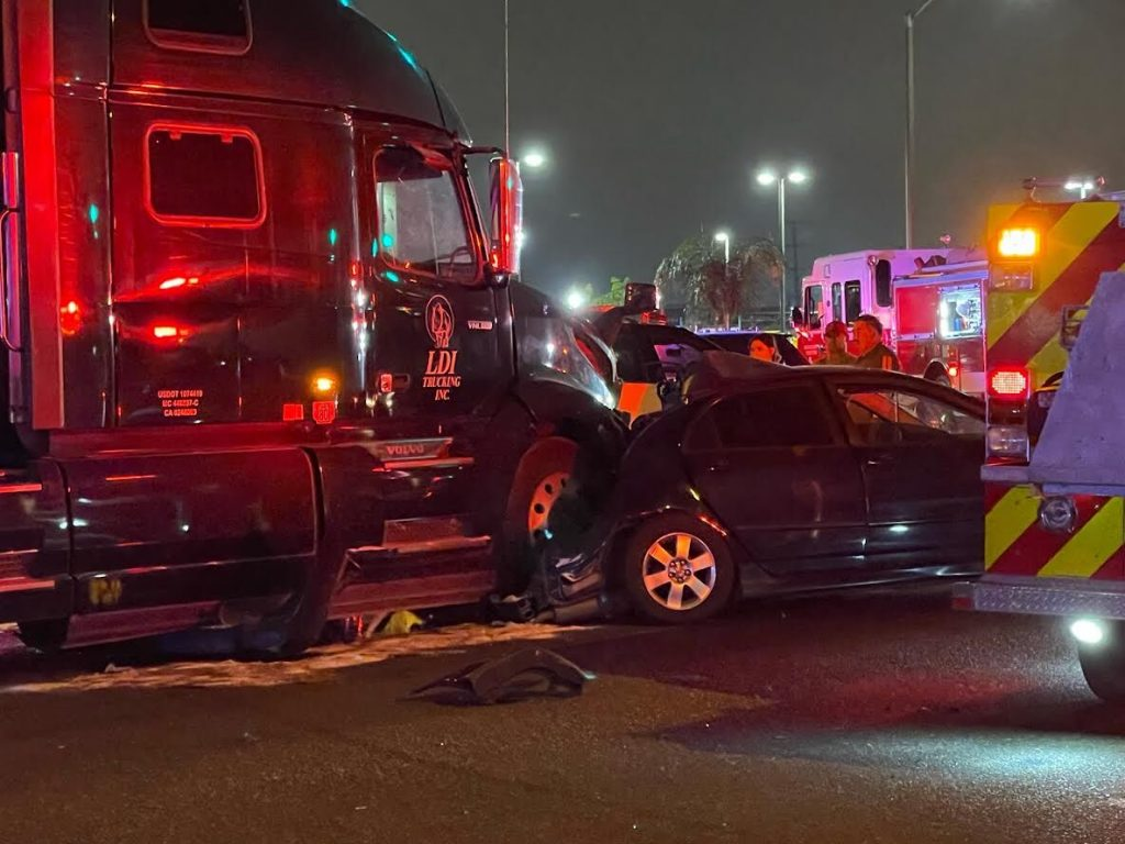 Four vehicles are involved in collision in southwestern Fontana on Aug. 18