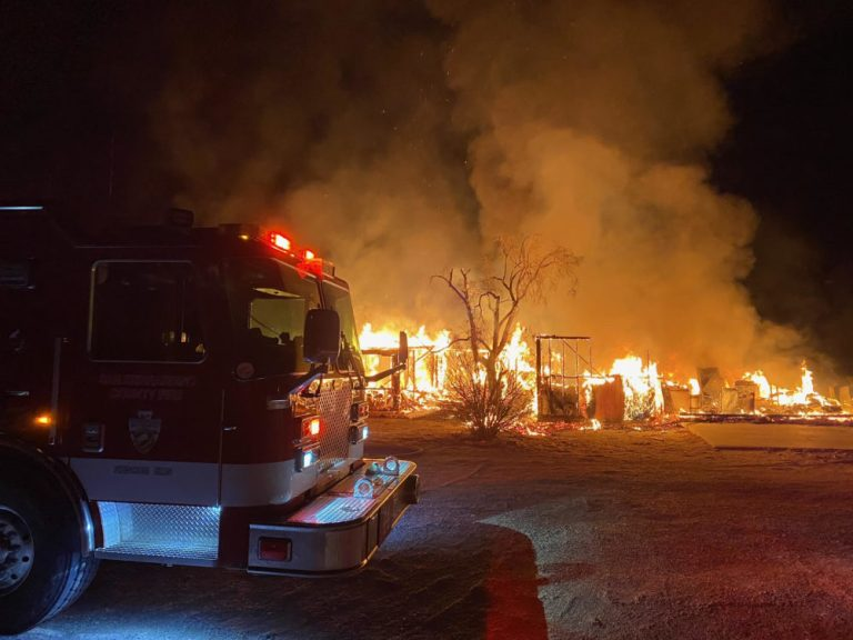 HOUSE AND RV DESTROYED IN WONDER VALLEY FIRE EARLY SATURDAY MORNING