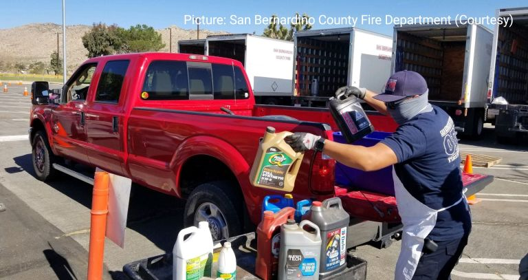 Needles, CA: Household Hazardous Waste Drop-Off Event will be happening in October 2021 at the City of Needles Public Works Department Yard.