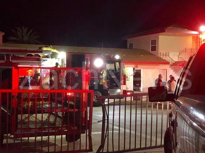 Needles, CA: Downtown Needles, CA: Commercial structure fire at the Econo Lodge hotel.