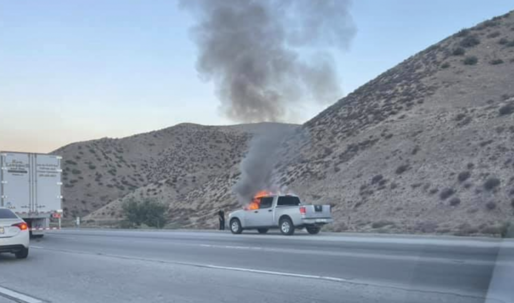 No injuries after truck fire on southbound I-15 in the Cajon Pass